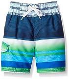 Kanu Surf Boys' Victor Stripe Quick Dry Beach Board Shorts Swim Trunk
