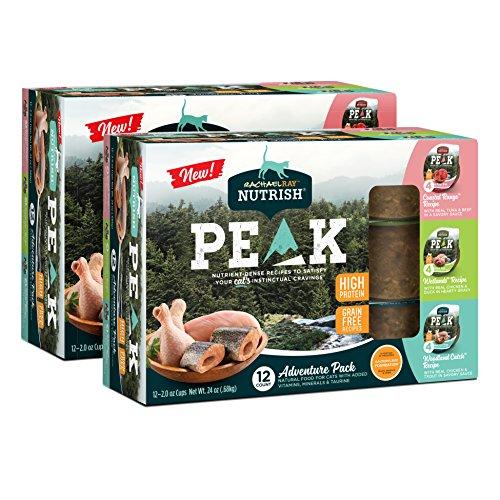 Rachael Ray Nutrish Peak Natural Wet Cat Food, Grain Free Variety Pack, 2 Oz. Cup (Pack Of 24)