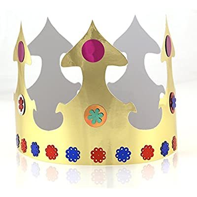 Hygloss Products Gold Paper Party Crowns – Made in The USA, 24 Pack: Arts, Crafts & Sewing