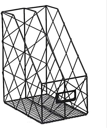 Organizer für die Ablage von Briefen DIY Organizer Regal Desktop Aufbewahrungsbox Metall Bürobedarf Lagerung Zeitungsständer CD Halter Schreibtisch Ordentlich Bücherregal für Home Office Schule