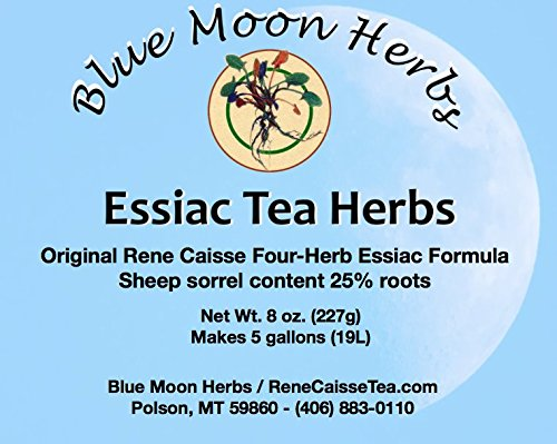 Essiac Tea Herbs Organic with Sheep Sorrel Content 25% Root - 8 oz. by Blue Moon Herbs
