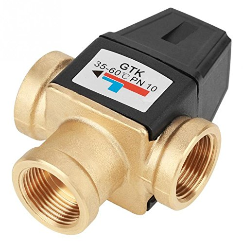 Valve - 3 Dn20 Female Thread Brass Thermostatic Mixing Valve Water Heater - Manner Path Mode Agency Elbow Direction - 1PCs