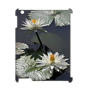 ANCASE Water Lily Pattern 3D Case for iPad 2,3,4