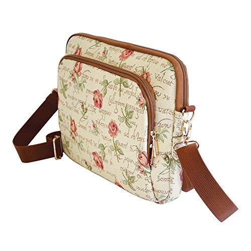 sac voyage Tapisserie tablette Rose accessoires étuis de bandoulière vU11d8qw