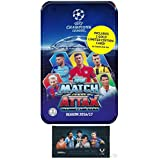2016/2017 Topps Match Attax Champions League Soccer Collectors MEGA TIN with 60 Cards & GOLD Limited Edition Card PLUS BONUS Lionel Messi Pack! Look for Top Stars Ronaldo, Messi, Suarez, Neymar & More
