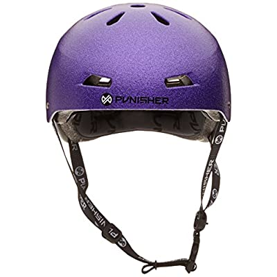 Punisher Skateboards Pro Youth 13 Vent Bright Flake Dual Safety Certified BMX Bike & Skateboard Helmet, Purple, Medium : Sports & Outdoors