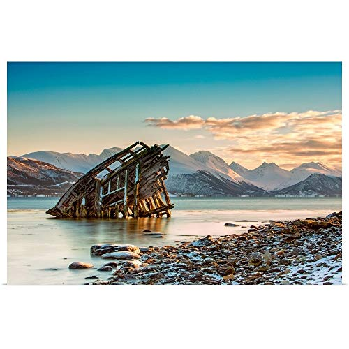 Poster Print entitled Old Viking Shipwreck in Tisnes, Norway by Great BIG Canvas ()