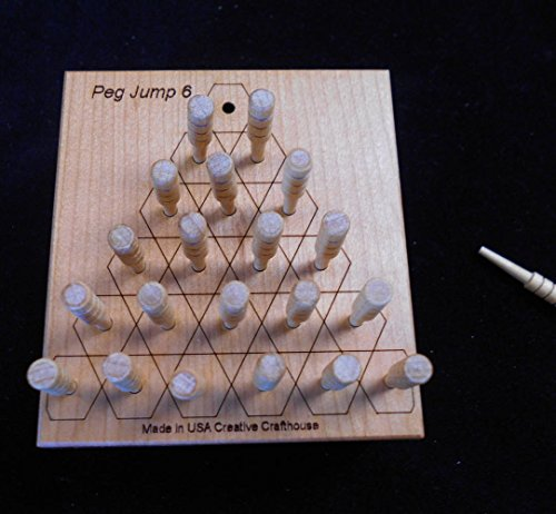 Peg Jump Triangle 6 – More Complex Version of the Familiar 5 Row Jump Puzzle by Creative Crafthouse