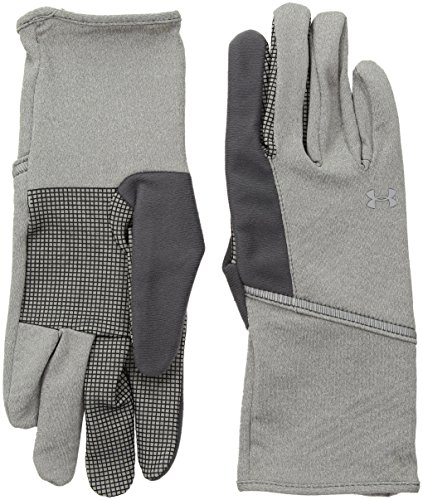 (Under Armour Women's ColdGear Infrared Liner Gloves, True Gray Heather (025)/Silver, X-Large)