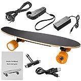 Beautytalk Elektrisches Skateboard Portable E-Board 350W 20km/h mit Elektro-Skateboard Fernbedienung und Motor für Kinder & Jugendliche(DE Lager)
