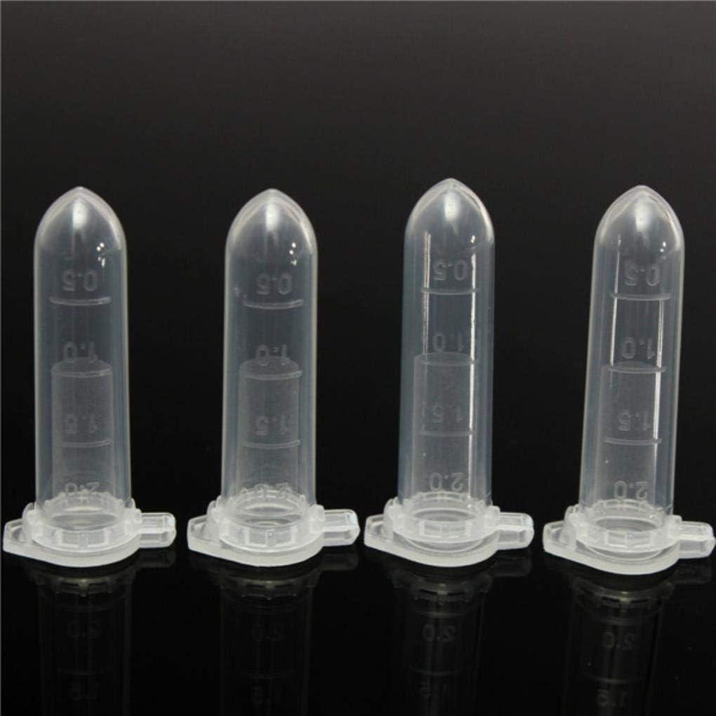 Yongse 100pcs 2mL Polypropyl/ène PP Tubes /à centrifuger