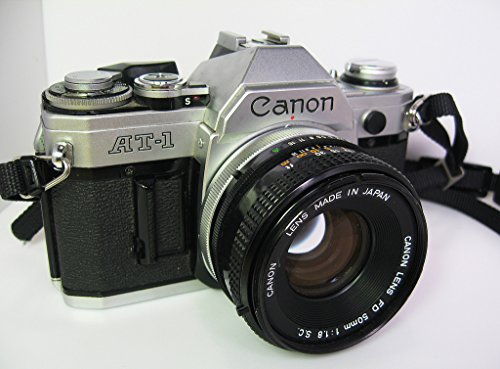 Canon AT-1 35mm Camera With A 50mm f/1.8 FD Lens