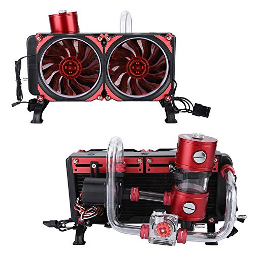 Laptop Cooling Fan,Notebook Computer Water-Cooled Set PC Liquid Cooling Kit,Water Row Water Pump Fan Water Tank Mounting Accessories,Contains All The Bits Need Easy to Installation
