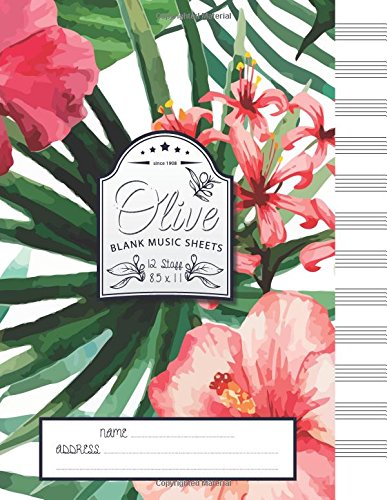 Olive Blank Music Sheets: 12 Stave - Size 8.5x11 pdf