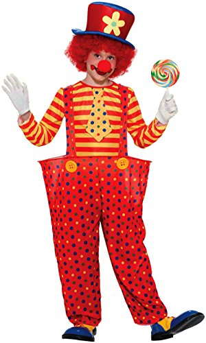 Clown Boy Child Costumes (Forum Novelties Hoopy the Clown Child Costume, Large)
