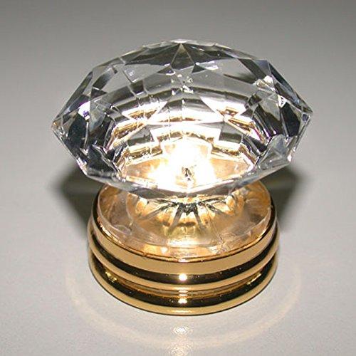 Top Grade K9 Crystal Copper Furniture Handles Gold Basic Kitchen Cabinet Pulls Door Dressers Pull Knob Pack of 1