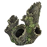 Reptile Hideouts, Petforu Tree Hole Pet Habitat Décor Hide Cave Aquarium Décor Ornaments