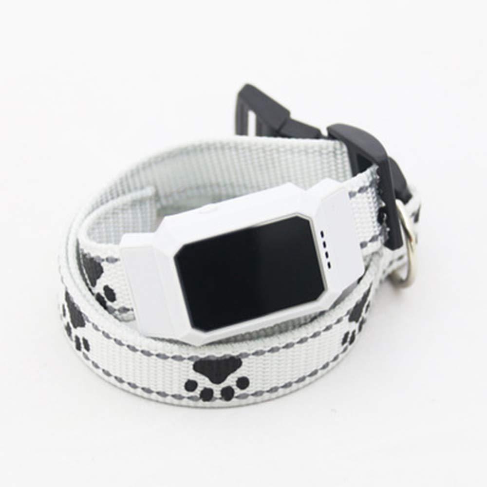 Pet Locator GPS Tracking Waterproof Pet Multi Anti-Lost Positioning Standby Intelligent Monitoring,White