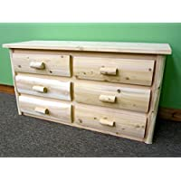 Midwest Log Furniture - Premium Log Dresser - 6 Drawer