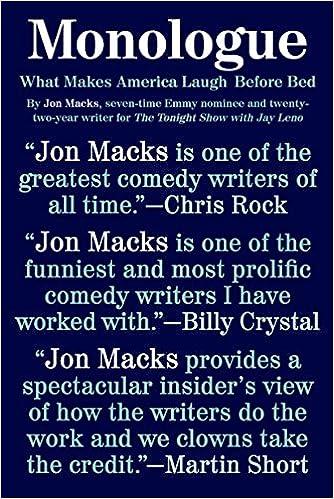 Monologue What Makes America Laugh Before Bed Jon Macks