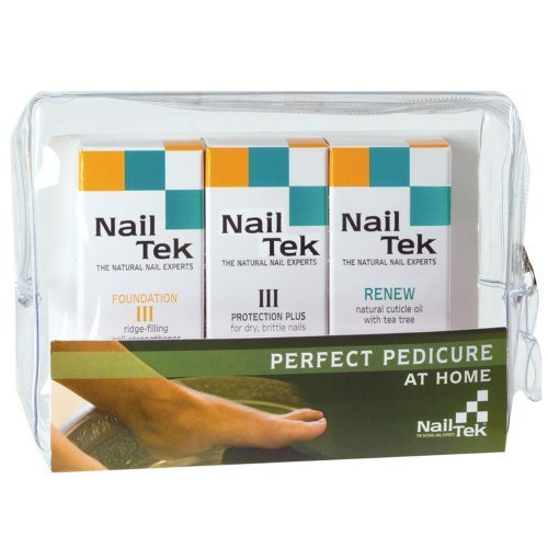 Nail Tek- Perfect Pedicure Kit- Includes: Foundation III, Protection Plus III & Renew Cuticle Oil- .5oz each