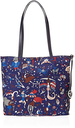 piero guidi 210153088, Borsa Tote Donna, 31x28x14 cm Blu (Royal)