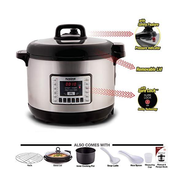 NUWAVE NUTRI-POT 13-Quart DIGITAL PRESSURE COOKER with Sure-Lock Safety System; Dishwasher-Safe Non-Stick Inner Pot… 2