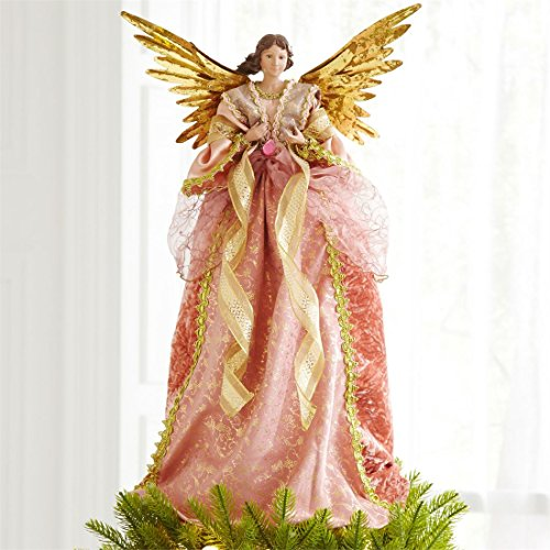 Angels Tree Skirt (Brylanehome Romantic Angel Tree Topper (Pink Gold,0))