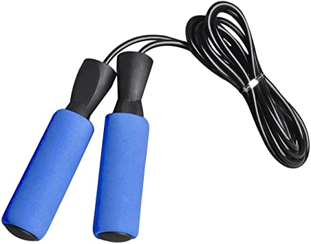 Black 2.7m 9ft Plastic Handle Speed Skipping Jump Rope Boxing Exercise Jumping