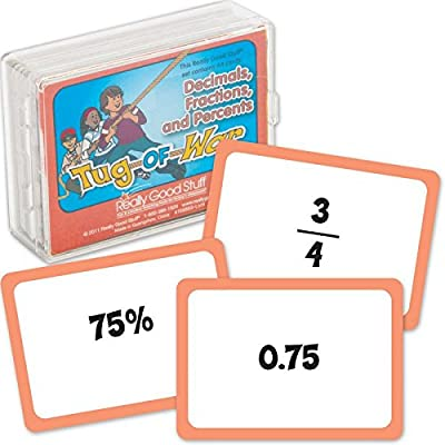 Really Good Stuff Tug of War Card Game, Decimals, Fractions & Percents – Educational Math Games for Practicing Fractions, Fast-Paced, Easy to Play Math Learning Game, Ideal for Classroom/Home Learning: Industrial & Scientific