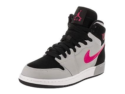sports shoes 4d5f0 9395b Nike Air Jordan 1 Retro High GG, Schwarz (BlackDeadly PinkWolf Grey)  Amazon.it Sport e tempo libero
