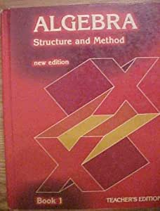 Algebra: Structure and Method, Book 1 by Richard G. Brown ...