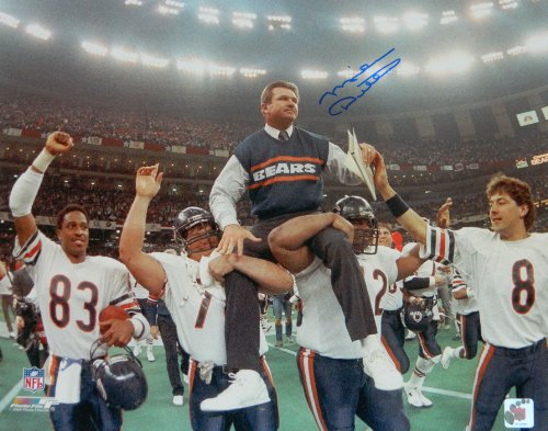 Mike Ditka Signed Autographed Bears Super Bowl Carried Off Field 16x20 ()