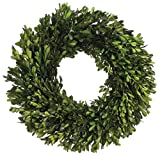 17 Inch Real Boxwood Wreath- Preserved