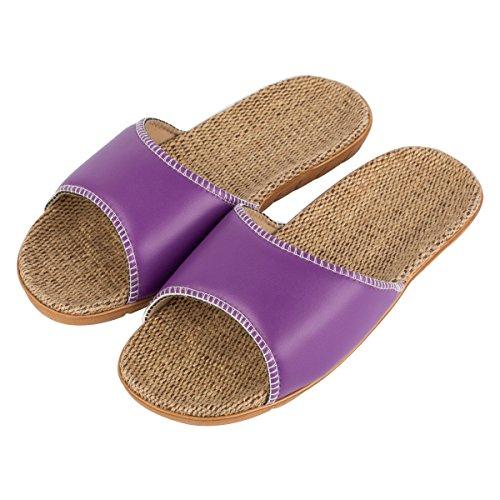 Haisum 8836-w - Zapatillas de estar por casa de Piel Sintética para hombre morado