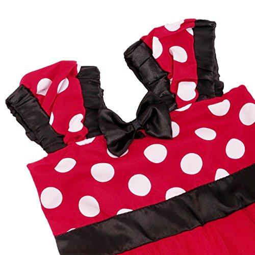 Minnie Costume Baby Girl Tutu Dress Mouse Ear Headband Polka Dot First Birthday Halloween Fancy Dress Up Princess Outfits 100 by OBEEII (Image #5)