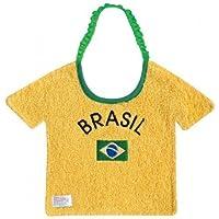 Zigozago - Babero en algodon para bebè Brasil t-shirt Elastico