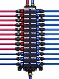 Viega 36142 3/8-Inch PureFlow Zero Lead Compression Manabloc with 14 Ports (8 Cold, 6 Hot)