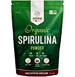 Organic Spirulina Powder by Superfood World | Blue-Green Algae Pure Dietary Superfood | Great Source of Protein & Iron| Certified Organic, Ideal for Smoothies, Sports Nutrition, Detox & Energy 250g