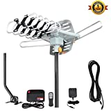 TV Antenna,VIEWTEK Outdoor Amplified HDTV Antenna with Adjustable Antenna Mount Pole 150 Miles