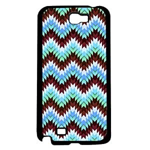 Burgundy and Teal Zig-Zag Chevron Pattern Hard Snap on Phone Case (Note 2 II)