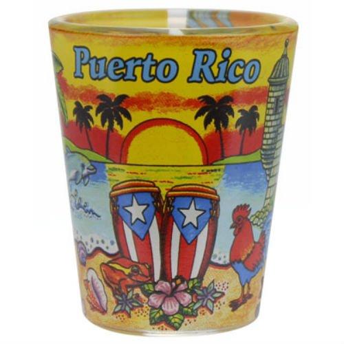 Puerto Rico Sunset Shot Glass agc