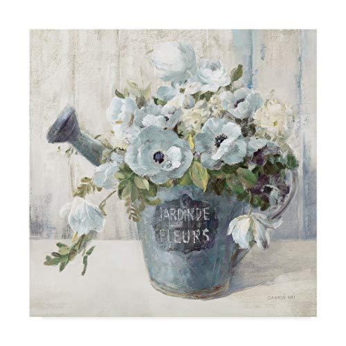 Trademark Fine Art Garden Blooms II Blue Crop by Danhui NAI, 35x35