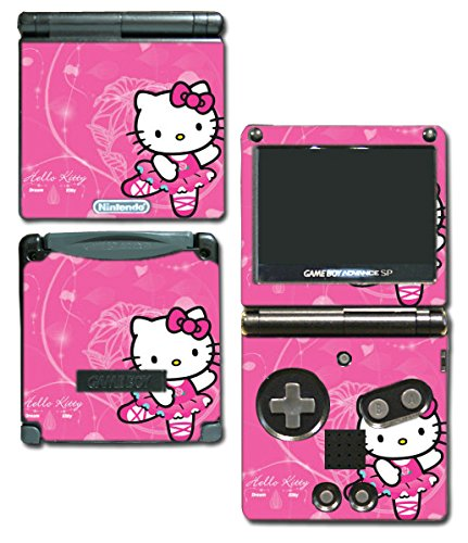 Hello Kitty Ballet Dance Dress Pink Tutu Skirt Video Game Vinyl Decal Skin Sticker Cover for Nintendo GBA SP Gameboy Advance System