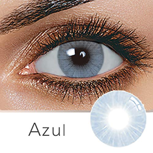 Multi-Color Cosplay Party Cute Charm and Attractive Daily Fashion Eyes Lenses Eyes Makeup Eye Shadow(A Pair) (Azul-Blue) ()