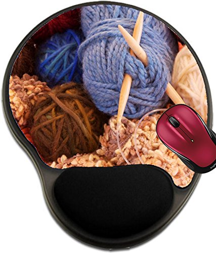 Antioxidant Shot (Liili Mousepad wrist protected Mouse Pads/Mat with wrist support design IMAGE ID: 815584 Close up shot of a bowl of yarn)