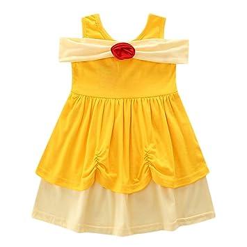 Modaworld - Vestido de verano sin mangas de encaje con lazo ...