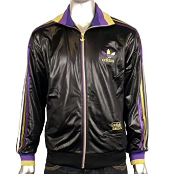 c4ae8ae6a638 Mens Adidas Originals Chile 62 Rib TT Black Gold Track Suit Top Jacket Size  XXL  Amazon.co.uk  Clothing