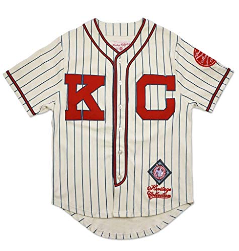 a3a1c083070d8 Big Boy Headgear Kansas City Monarchs Men's Heritage Jersey Large Ivory