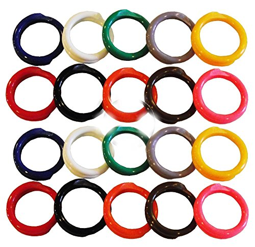 20 MULTI COLORED #14 LEG BANDS 7/8'' CHICKEN POULTRY CHICK QUAIL PIGEON DUCK BIRD by Unbranded*